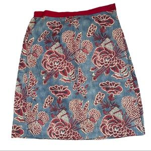 Japanese floral Cotton wrap skirt coldwater creek